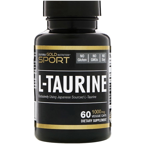 California Gold Nutrition, L-Taurine, 1000 mg, 60 Veggie Caps