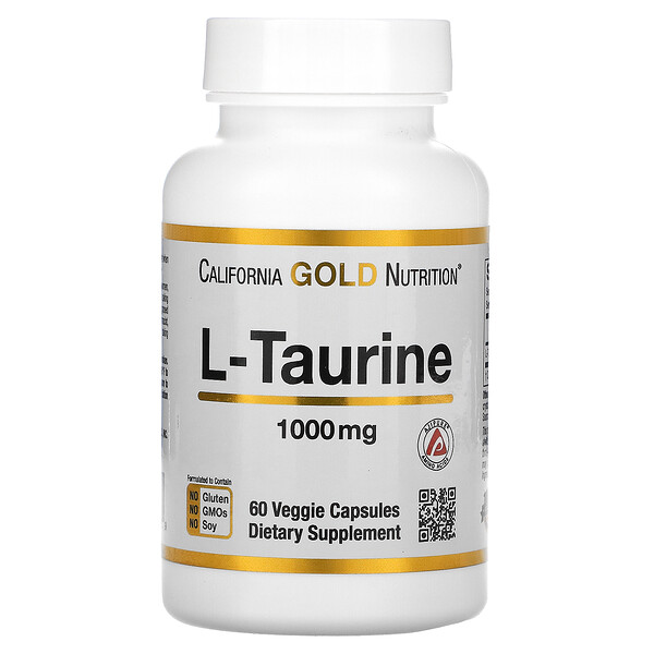 California Gold Nutrition, L-taurine, AjiPure, 1000mg, 60capsules végétariennes
