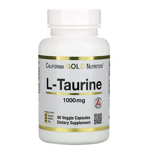 California Gold Nutrition, L-Taurine, 1,000 mg, 60 Veggie Capsules отзывы