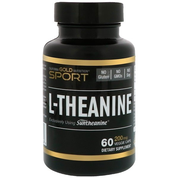 California Gold Nutrition, L-Theanine, Suntheanine, 200 mg, 60 Veggie Caps (Discontinued Item)