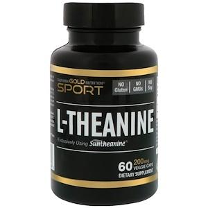 California Gold Nutrition, L-Theanine, Suntheanine, 200 mg, 60 Veggie Caps отзывы
