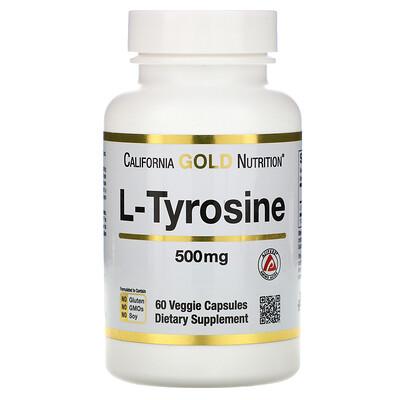 L-тирозин, AjiPure, 500 мг, 60 растительных капсул bcaa аминокислоты с разветвленными цепями ajipure® 500мг 60растительных капсул