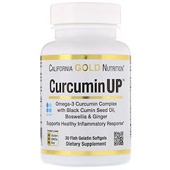 California Gold Nutrition, Curcumin UP Omega Blend, Turmeric Inflammation Formula, 30 Fish Gelatin Softgels