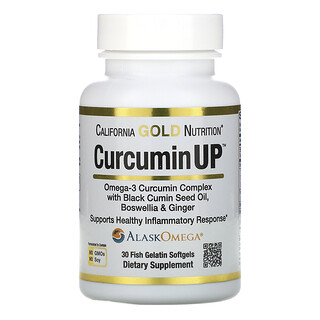 California Gold Nutrition, CurcuminUP, Omega-3 Curcumin Complex, Inflammation Support, 30 Fish Gelatin Softgels