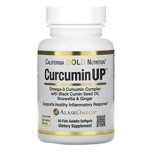California Gold Nutrition, CurcuminUP, Omega-3 Curcumin Complex, Inflammation Support, 30 Fish Gelatin Softgels отзывы покупателей