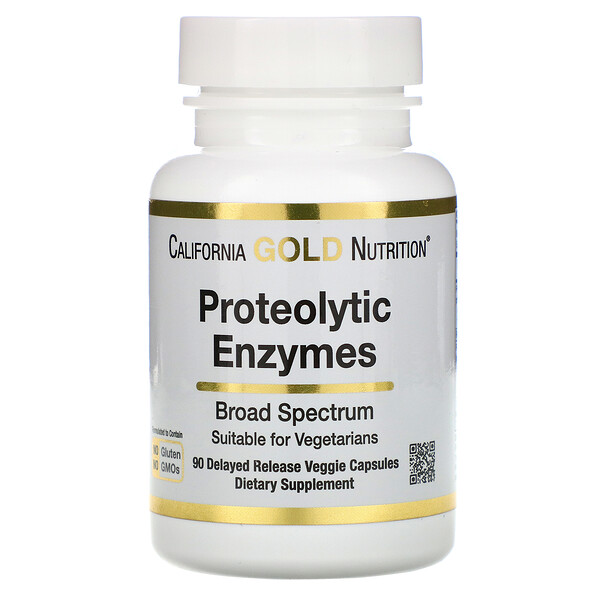 Proteolytic Enzymes, Broad Spectrum, 90 Delayed Release Veggie Capsules