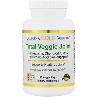 California Gold Nutrition, Total Veggie Joint Formula, Vegetarian Glucosamine & Chondroitin, Plus MSM, Hyaluronic Acid, Oligopin, 90 Veggie Caps