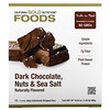 California Gold Nutrition, フーズ、ダークチョコレートナッツ&海塩バー、12本、各40g(1.4oz)