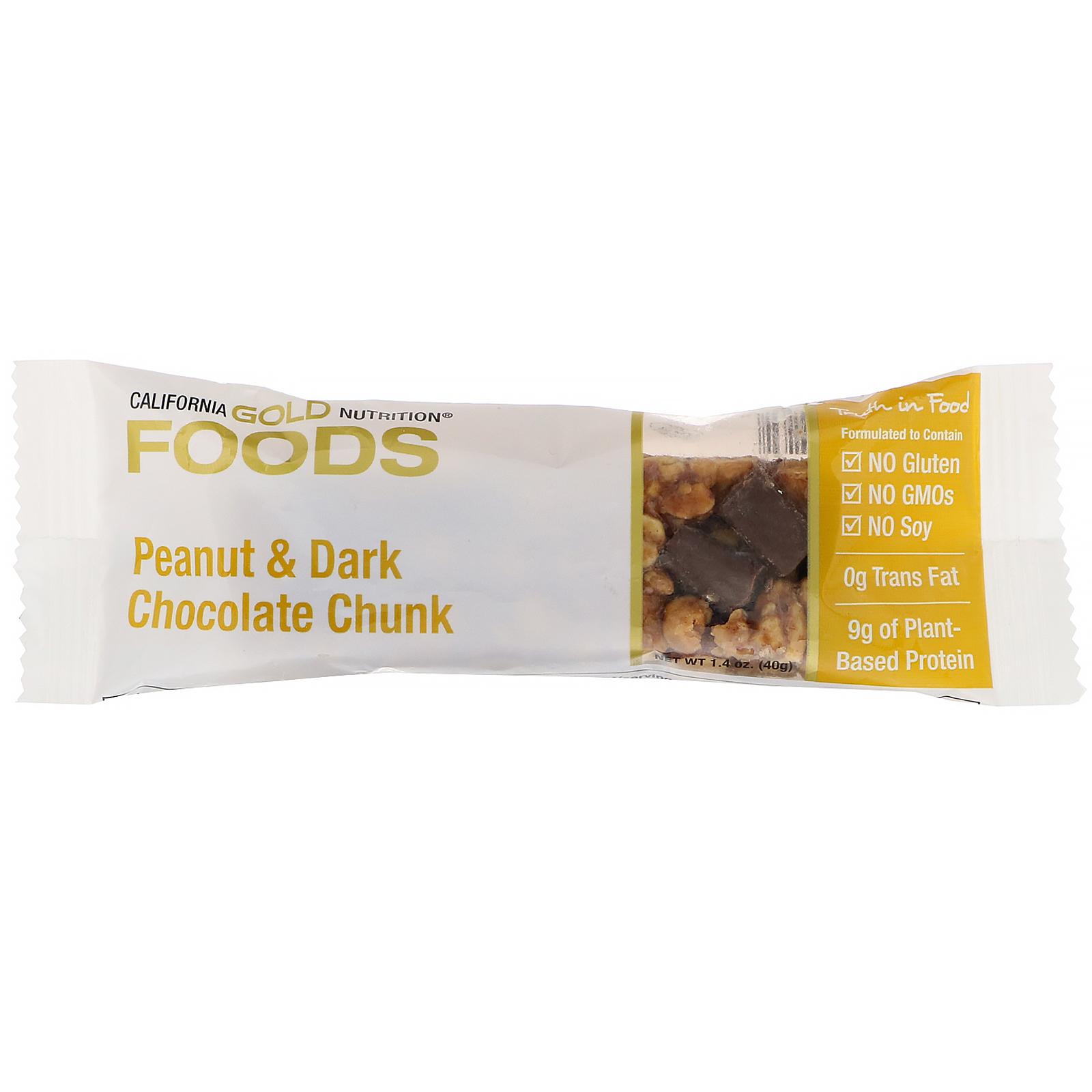 California Gold Nutrition Gold Bar Peanut Dark Chocolate