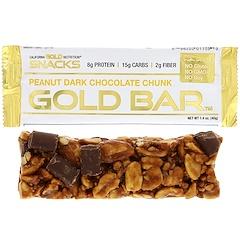 California Gold Nutrition, ゴールドバー、ピーナッツダークチョコレートチャンク、1.4 oz (40 g)