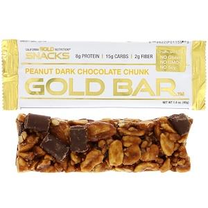 California Gold Nutrition, Gold Bar, Peanut Dark Chocolate Chunk, 1.4 oz (40 g)