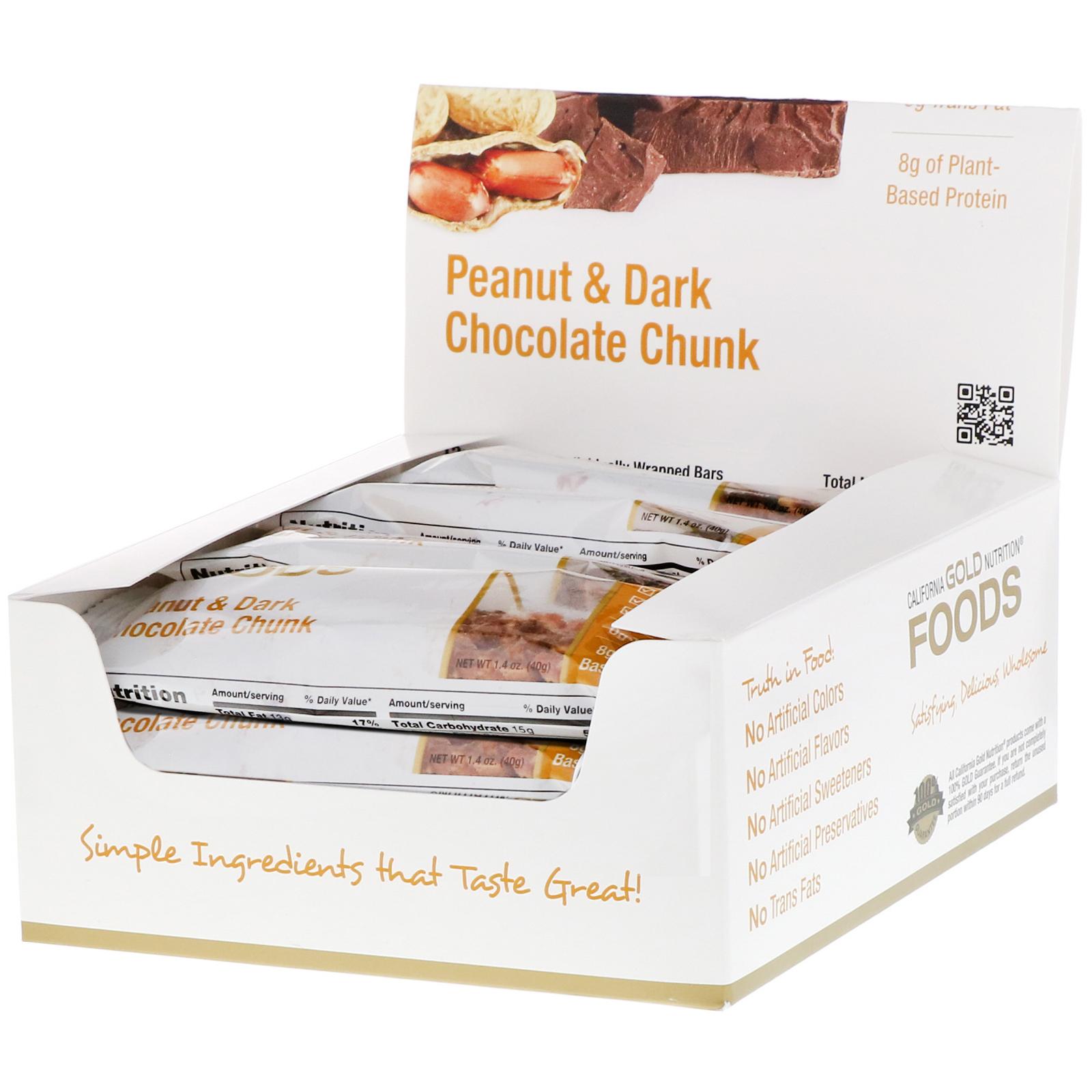 California Gold Nutrition Foods Peanut Dark Chocolate