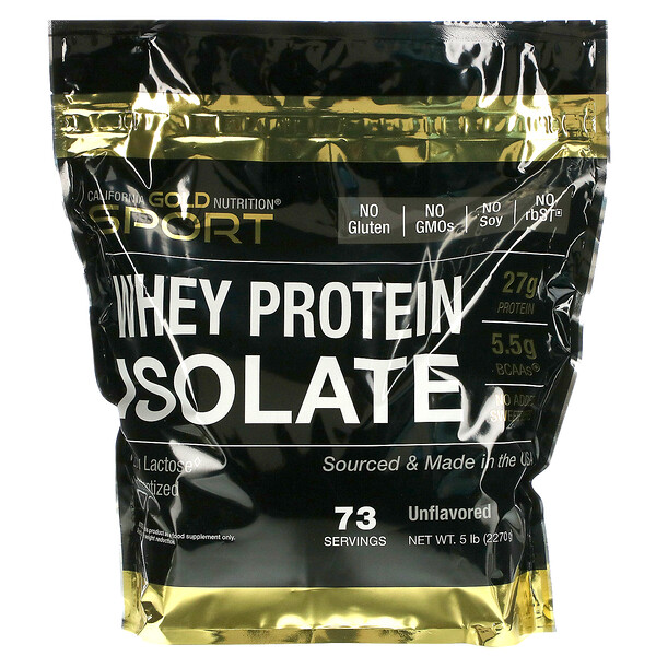 California Gold Nutrition, Whey Protein Isolate, 5 lb
