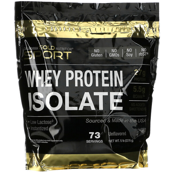 Whey Protein Isolate, 5 lb