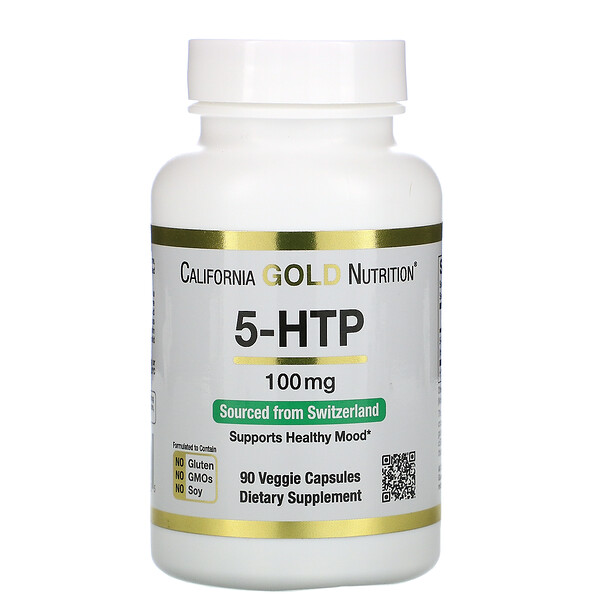 5-HTP, Mood Support, Griffonia Simplicifolia Extract from Switzerland, 100 mg, 90 Veggie Capsules