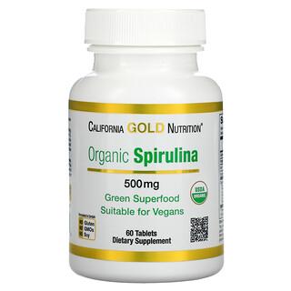 California Gold Nutrition, Organic Spirulina, USDA Organic, 500 mg, 60 Tablets