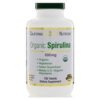 Органическая спирулина, сертифицирована Министерством сельского хозяйства США, 500 мг, 720 таблеток - фото