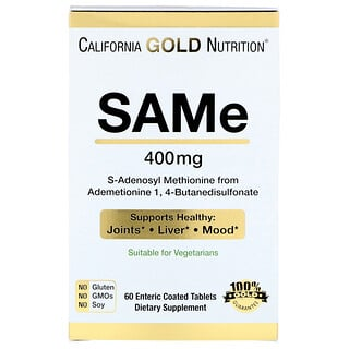 California Gold Nutrition, SAMe, from  Butanedisulfonate, 400 mg, 60 Enteric Coated Tablets