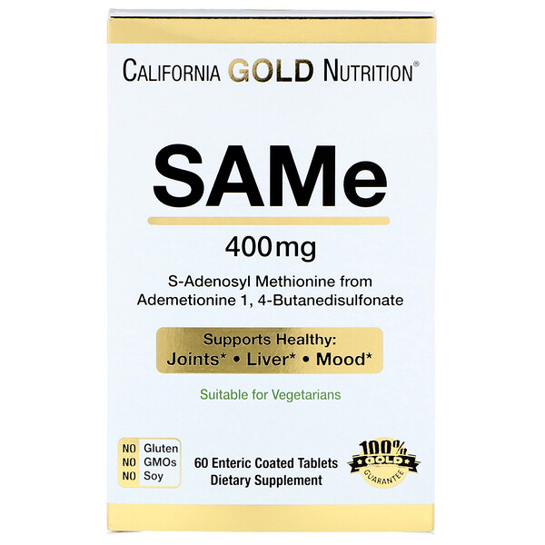 California Gold Nutrition, SAMe, Preferred Form Butanedisulfonate, 400 mg, 60 Enteric Coated Tablets