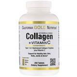 Отзывы о California Gold Nutrition, Гидролизованные коллагеновые пептиды + витамин С, тип 1 и 3, 6000 мг, 250 таблеток