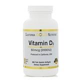 Отзывы о California Gold Nutrition, Витамин D3, 50 мкг (2000 МЕ), 360 мягких капсул с оболочкой из рыбьего желатина