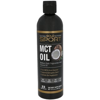 California Gold Nutrition, MCT Oil, From Coconut Oil, Keto Support, 12 fl oz (355 ml)