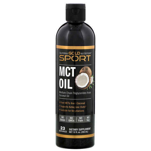California Gold Nutrition, Aceite de MCT, 355 ml (12 oz. líq.)