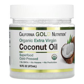 California Gold Nutrition, органическое кокосовое масло первого холодного отжима, нерафинированное, полученное методом холодного прессования, 473мл (16жидк. унций)