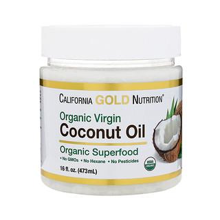 California Gold Nutrition, Organic Virgin Coconut Oil, Superfood, Cold Pressed, Unrefined, 16 fl oz (473 ml)