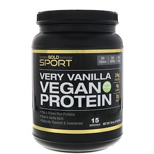 California Gold Nutrition, Very Vanilla Flavor Vegan Protein, Pea & Brown Rice, No Soy, No GMOs, 16 oz (454 g) отзывы покупателей