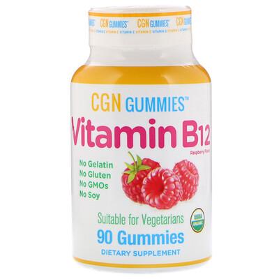 Купить California Gold Nutrition Метил B12 (метилкобаламин), натуральный вкус малины, 1500мкг, 90жевательных таблеток