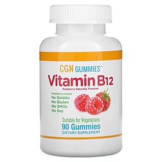 California Gold Nutrition, Vitamin B12, Raspberry, 90 Gummies