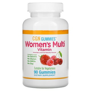California Gold Nutrition, Women's Multi Vitamin,  Mixed Berry and Fruit Flavor, 90 Gummies