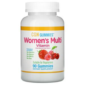 California Gold Nutrition, Women's Multi Vitamin Gummies, No Gelatin, No Gluten, Mixed Berry and Fruit Flavor, 90 Gummies отзывы