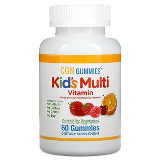California Gold Nutrition, Gomas Multivitamínicas Infantis, Sem Gelatina, Sabor de Frutas e Frutos Silvestres Mistos, 60 Gomas