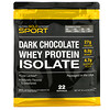 California Gold Nutrition, 100% Whey Protein Isolate, Dark Chocolate, 2 lbs (907 g)