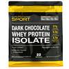California Gold Nutrition, 100% aislado de proteína de suero de leche, Chocolate negro, 907g (2lb)