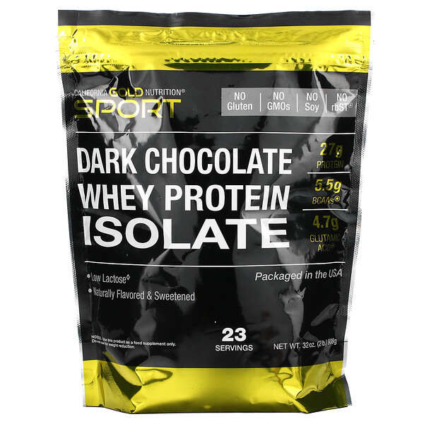 Dark Chocolate Whey Protein Isolate, 2 lbs (908 g)