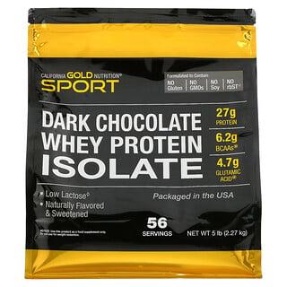 California Gold Nutrition, 100-ный изолят сывороточного протеина со вкусом черного шоколада, 2,27кг (5фунтов)