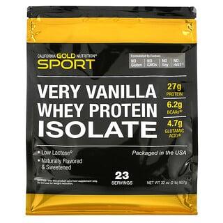 California Gold Nutrition, Изолят сывороточного протеина с ванильным вкусом, 907г (2фунта)