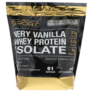 California Gold Nutrition, Whey Protein Isolate, Very Vanilla, 5 lbs (2270 g)