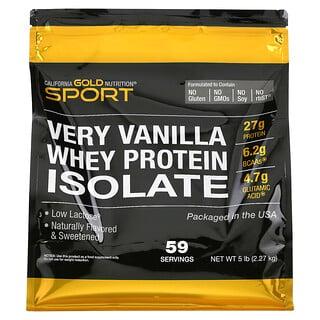 California Gold Nutrition, изолят сывороточного протеина со вкусом ванили, 2270г (5фунта)