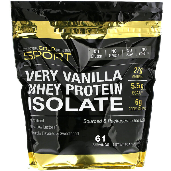 Very Vanilla Flavor Whey Protein Isolate, 5 lbs (2270 g)