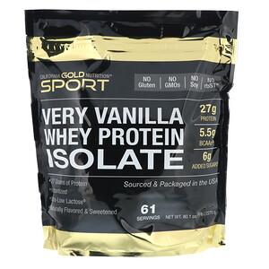 California Gold Nutrition, Very Vanilla Flavor Whey Protein Isolate, 5 lbs (2270 g) отзывы