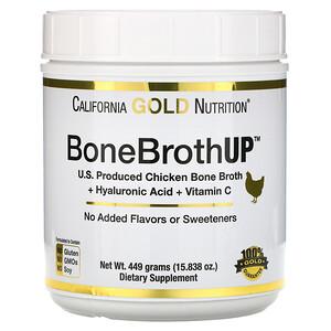 California Gold Nutrition, Chicken BoneBrothUp Protein, Skin, Hair & Nail Health with Hyaluronic Acid, Vitamin C, 15.838 oz (449 g) отзывы покупателей