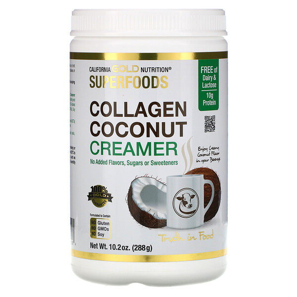 Superfoods, Collagen Coconut Creamer Powder, Unsweetened, 10.2 oz (288 g)