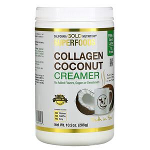California Gold Nutrition, Superfoods, Collagen Coconut Creamer Powder, Unsweetened, 10.2 oz (288 g) отзывы покупателей