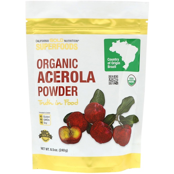 California Gold Nutrition, Superfoods, Organic Acerola Powder, 8.5 oz (240 g)