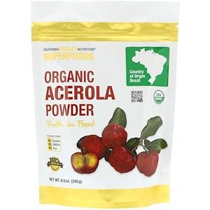 California Gold Nutrition, Superfoods, Organic Acerola Powder, 8.5 oz (240 g) отзывы