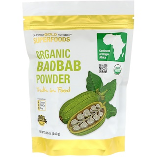 California Gold Nutrition, Superfoods, Organic Baobab Powder, 8.5 oz (240 g)